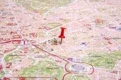 La mappa di Roma Fotografia Stock Libera da Diritti