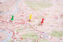 La mappa di Roma Immagine Stock
