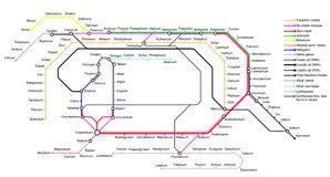 La mappa sotterranea degli elementi Immagini Stock