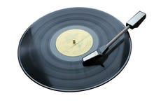 La maquette de douille de couverture d'album de vinyle de blanc de musique de disque a isolé le chemin de coupure Image libre de droits