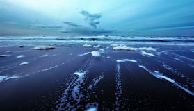 La marée est basse photographie stock libre de droits