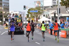 La-Marathon - 15 Maart, 2015 Zonsondergang Blvd Royalty-vrije Stock Afbeelding