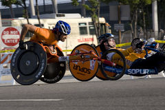 LA Marathon - wheelchair. The 23rd Annual Los Angeles Marathon Stock Photo