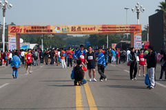 La maratona mezza internazionale 2011 di Zhuhai Fotografia Stock