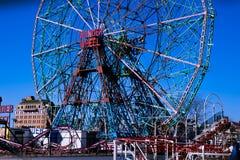 La maravilla rueda adentro Coney Island Imagenes de archivo