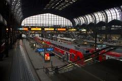 La marca della stazione di Amburgo pubblica Immagine Stock