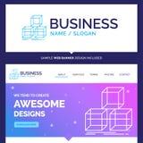 La marca hermosa del concepto del negocio arregla, diseña, apila, 3d stock de ilustración