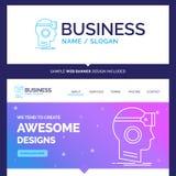 La marca hermosa del concepto del negocio VR, googlea, las auriculares, reales ilustración del vector