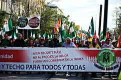La marcha de la dignidad una protesta 30 Imagen de archivo libre de regalías