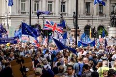 La marcha para un voto del ` s de la gente foto de archivo libre de regalías