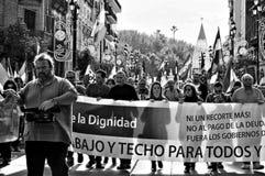 La marche de dignité une protestation 44 Photographie stock libre de droits