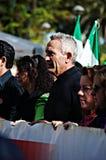 La marche de dignité une protestation 23 - syndicaliste Cañamero Image stock