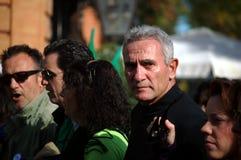 La marche de dignité une protestation 26 - syndicaliste Cañamero Photo stock