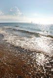La marea di mattina in mare Fotografia Stock Libera da Diritti
