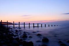 La marea di sera entra. Immagine Stock