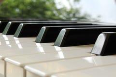 La marfil blanca y los claves negros de un piano Fotos de archivo libres de regalías
