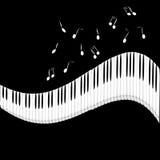 La marfil blanca y los claves negros de un piano Imagenes de archivo