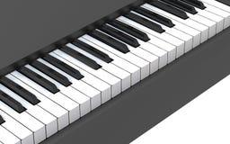 La marfil blanca y los claves negros de un piano Foto de archivo libre de regalías