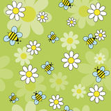 Bees_daisies Imagen de archivo libre de regalías