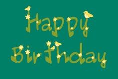 La margherita di buon compleanno fiorisce la carta blu Immagini Stock