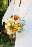 La mariée avec un bouquet de mariage. Photographie stock libre de droits