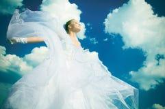 La mariée dans le ciel image stock