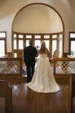 La mariée et le marié à modifient. photos libres de droits