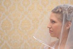 La mariée regarde vers l'avant Images libres de droits