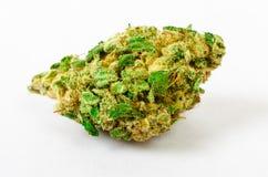 La marijuana médica molida para arriba y alista para rodar Con un tipo de acero del brote Imagen de archivo