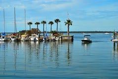 La marina chez Dundedin, la Floride Photos libres de droits