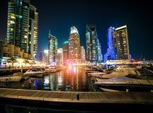 La marina de Dubaï est une ville artificielle de canal Photos libres de droits