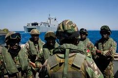 La marina de guerra española conduce ejercicios navales foto de archivo libre de regalías