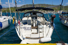 La marina de Poros, est une île grecque dans la partie du sud de Saronic G Photo stock