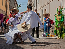 La marinera, peruvian dance Royalty Free Stock Images