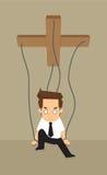 La marioneta del hombre de negocios expira ilustración del vector
