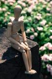La marionnette en bois se reposent photos stock