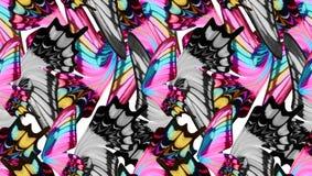 La mariposa colorida se va volando el fondo inconsútil Imagen de archivo