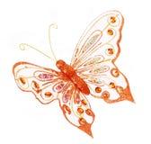 La mariposa de Glitte, decoraciones de la Navidad del brillo es Foto de archivo