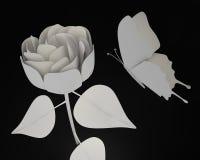 La mariposa de papel y subió Imagen de archivo