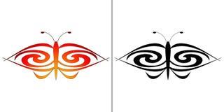 La mariposa, perfecciona como tatuaje Imágenes de archivo libres de regalías