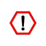 La marque d'exclamation, mettent en danger le symbole d'avertissement Image libre de droits