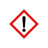 La marque d'exclamation, mettent en danger le symbole d'avertissement Photos libres de droits