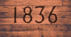 1836 la marque de date d'Alamo illustration libre de droits