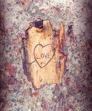 La marque de l'amour Images libres de droits