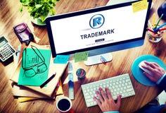 La marque de marque déposée redresse le concept de Copyright de protection Images stock