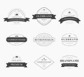La marque et le logo conçoivent, vieil insigne de taverne Image stock