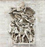 La Marseillaise Francois Rude - Sculptural group at the base of Arc de Triomphe de l`Etoile, Paris. La Marseillaise Francois Rude - Sculptural group at the base Stock Image