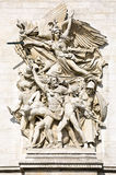 La Marseillaise, Sculptural group at the base of Arc de Triomphe de l'Etoile, Paris. France Stock Photo