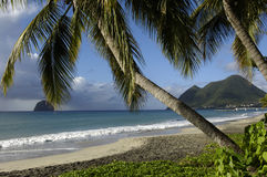 La Martinica, spiaggia di le Diamant Immagine Stock Libera da Diritti