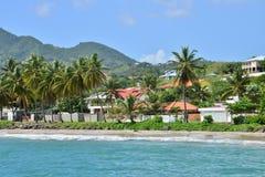 La Martinique, ville pittoresque de le diamant dans les Antilles Image libre de droits